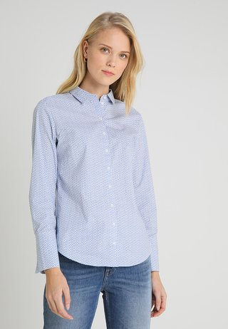 BLOUSE FEMININE SLEEVE HEM DETAILS - Button-down blouse - combo