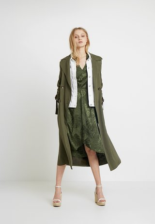 LEAF DRESS - Korte jurk - khaki