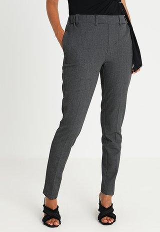 RONIE PANTS - Trousers - dark grey melange