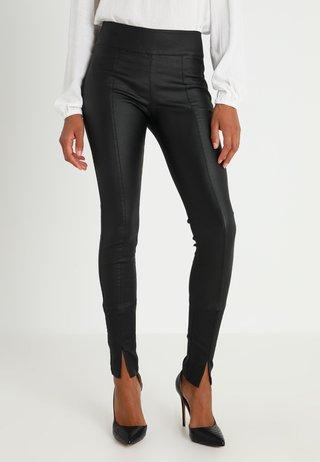 BELUS SLIT PANTS KATY ANKLE - Leggings - Hosen - pitch black