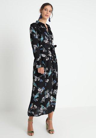 MARGOT SHIRT DRESS - Maxiklänning - jet black