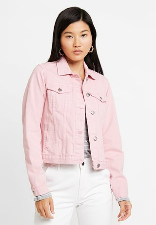 JACKET - Denim jacket - pink