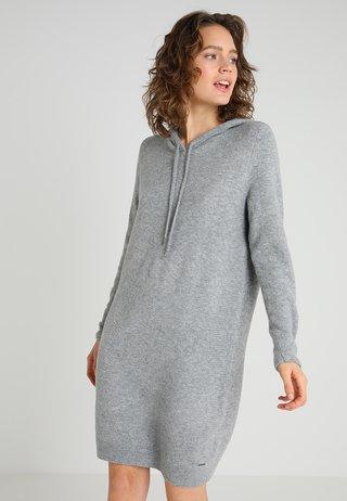 Jumper dress - silver grey melange