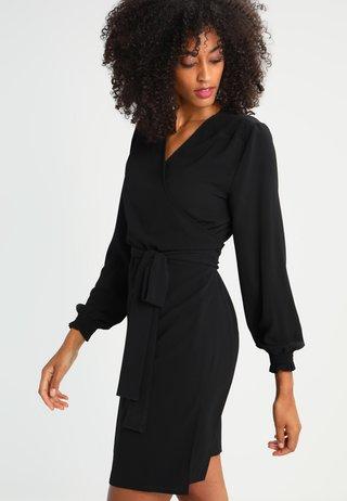 BLAKE WRAP DRESS - Vestito estivo - black deep