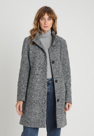 Wollmantel/klassischer Mantel - grey/black