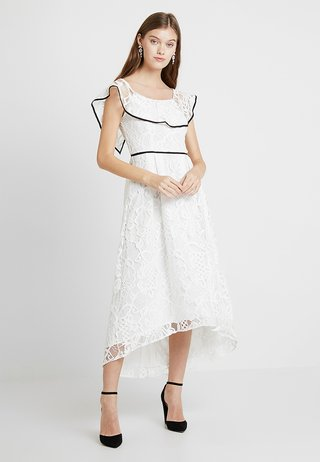 TIPPED BARDOT DRESS - Cocktailkleid/festliches Kleid - off white