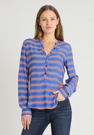 Blouse - blue/red
