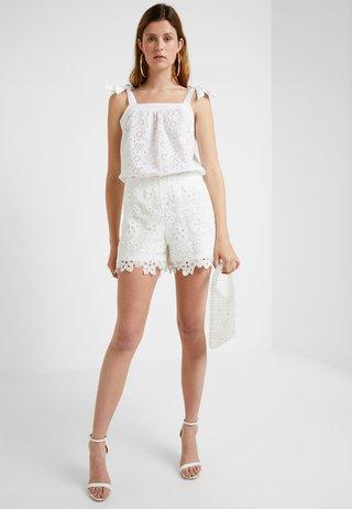 SQUARE NECK CAMI - Bluse - white
