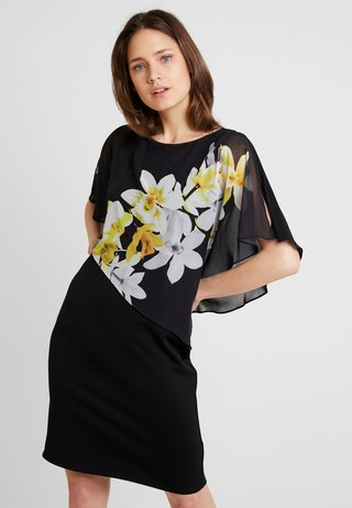 LEMON ORCHID OLAYER DRESS - Cocktail dress / Party dress - black