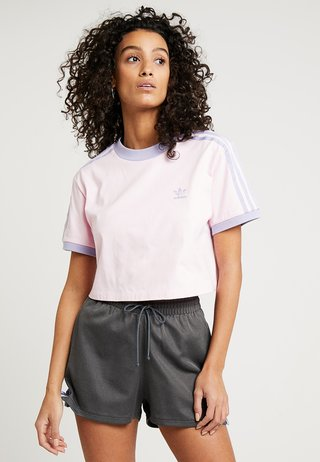 CROPPED TEE - T-shirt med print - clear pink