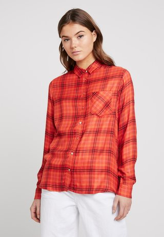 KICKY CHECK - Button-down blouse - orange