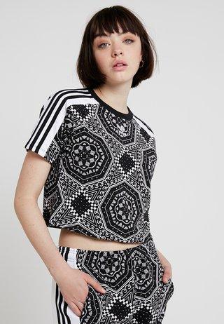 CROP TEE - T-shirt con stampa - black