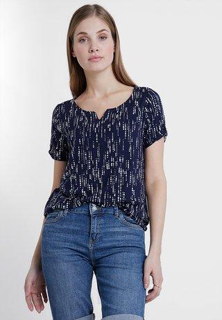 Camiseta estampada - blue/white
