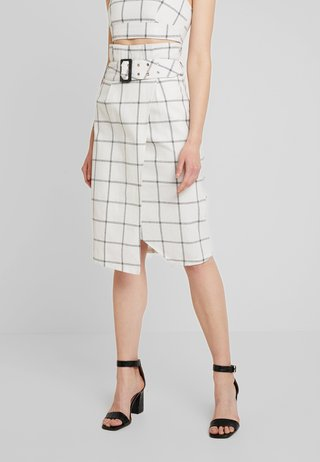 HONEY SKIRT - Pencil skirt - black/white
