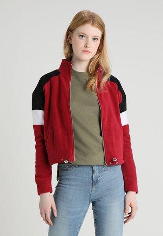 COLOURBLOCK POLAR - Fleecová bunda - dark burgundy