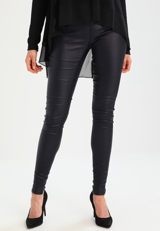 ADA COATED - Leggings - Trousers - midnight marine