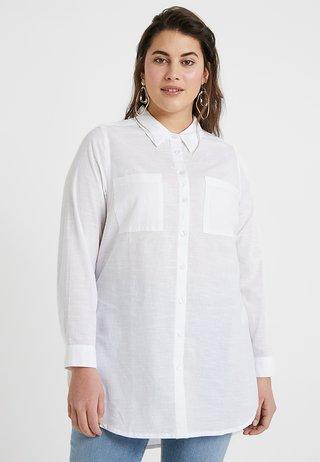 LONGLINE - Blouse - white