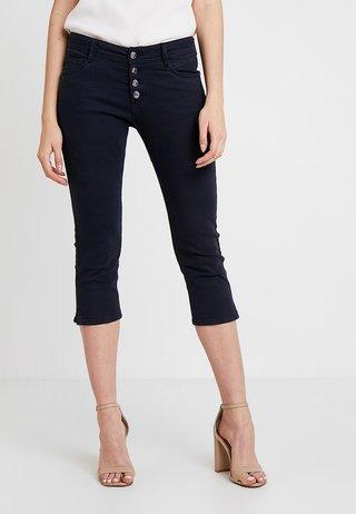 SHAPE CAPRI - Denim shorts - navy denim