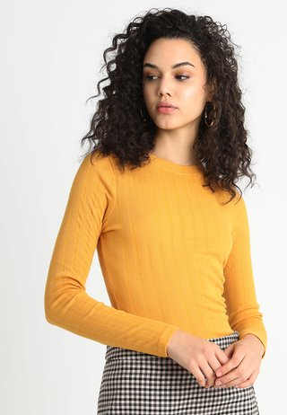 VERONICA CREW  - Long sleeved top - dark yellow
