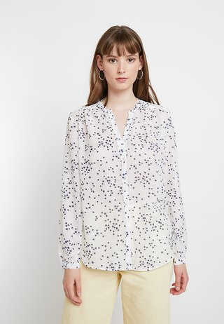 JDYLOOP - Blouse - cloud dancer/navy blazer