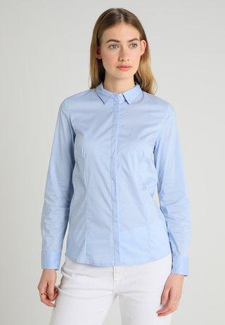 LANGARM - Button-down blouse - mirage blue