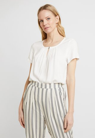 FABRIC MIX - Bluse - whisper white