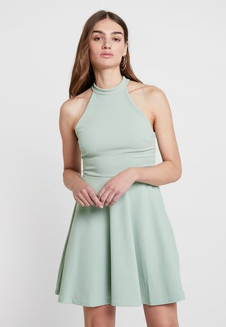 GO HIGH NECK SKATER DRESS - Cocktail dress / Party dress - mint