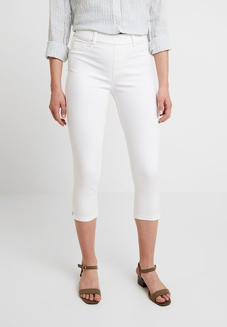 EDEN CROP - Jeans Shorts - white