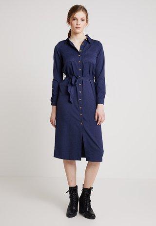 EXCLUSIVE BUTTON THROUGH DRESS - Maxi šaty - navy