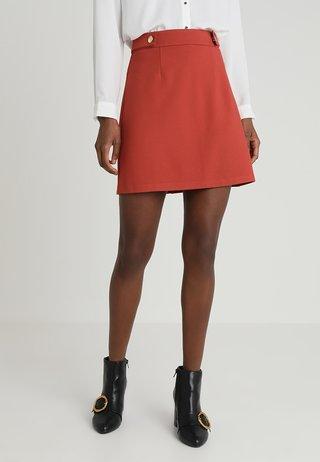 POPPER - A-line skirt - rust