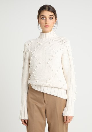 BOBBLE HIGH NECK JUMPER - Strickpullover - off-white
