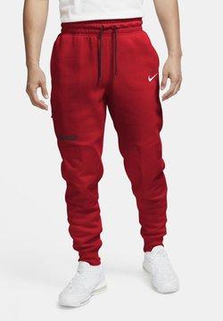 Nike Sportswear - FLEECEBYXOR - Jogginghose - black university red white