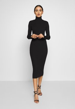 Missguided - ROLL NECK MIDI DRESS - Kotelomekko - black