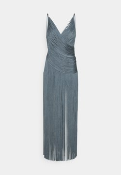 Hervé Léger - DRAPED FRINGE DEEP GOWN - Occasion wear - abalone