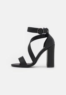 Even&Odd Wide Fit - Sandaalit nilkkaremmillä - black