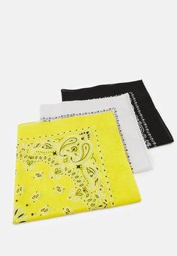 Urban Classics - BANDANA 3 PACK UNISEX - Huivi - black/yellow/white