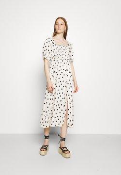 Gestuz - DORA SHORT DRESS - Freizeitkleid - offwhite/black