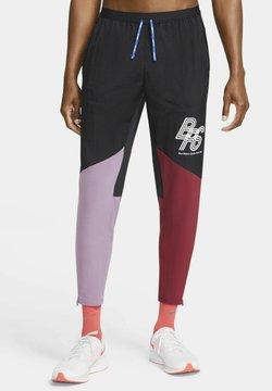 Nike Performance - ELITE BRS  - Jogginghose - black/team red/violet dust/white