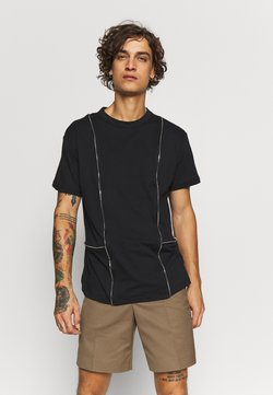 The Ragged Priest - TEE WITH ZIP PANELS - T-shirt basique - black