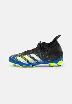 adidas Performance - PREDATOR FREAK .3 MG UNISEX - Botas de fútbol con tacos - core black/footwear white /solar yellow