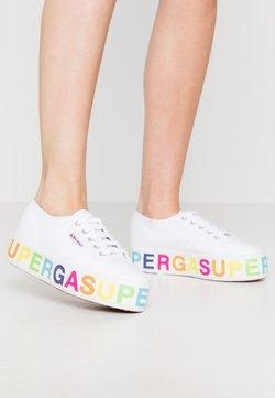 Superga - 2790 GLITTERLETTERING - Sneakers basse - white/multicolors