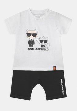 KARL LAGERFELD - BABY SET UNISEX - T-Shirt print - black