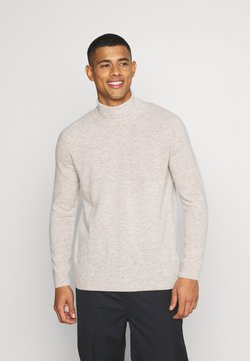 KnowledgeCotton Apparel - VALLEY ROLL NECK - Strickpullover - light feather grey