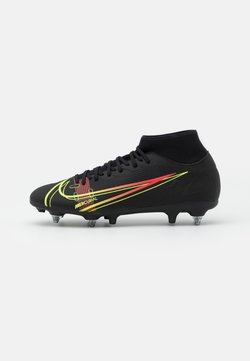 Nike Performance - MERCURIAL 8 ACADEMY SG-PRO AC - Voetbalschoenen met metalen noppen - black/cyber/off noir