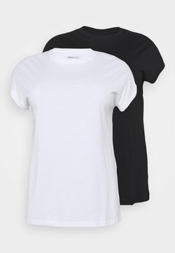 CAPSULE by Simply Be - BOYFRIEND 2 PACK - T-shirts - black/white