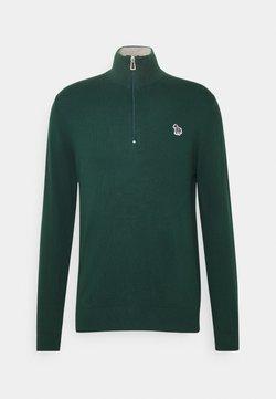 PS Paul Smith - MENS ZIP NECK ZEBRA - Strickpullover - green