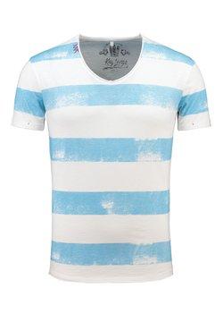 Key Largo - T-Shirt print - offwhite-blue