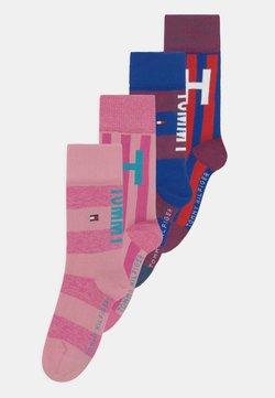 Tommy Hilfiger - SEASONAL COLLEGIATE 4 PACK - Calze - light pink/blue