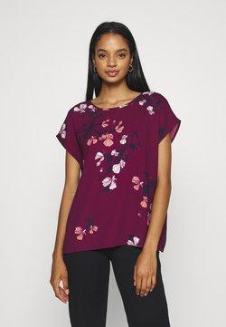 Vero Moda - VMHALLIE NEW - T-Shirt print - dark red