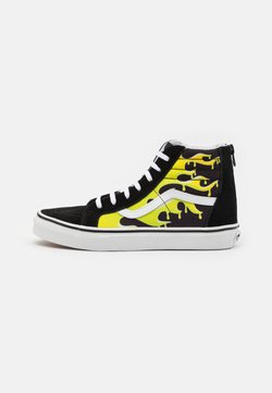 Vans - SK8 ZIP - Korkeavartiset tennarit - black/true white